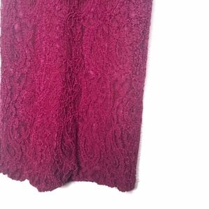 Wet Seal Dresses - Wet Seal Fuchsia Formal Lace Sleeveless Dress